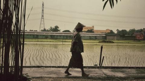 Desa Sewon, Bantul, Yogyakarta, 1 Januari 2014. Petani siap bekerja. (Courtesy of Nauval Yazid.)
