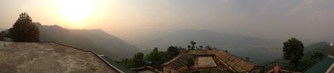 Di atas kaki bukit di Pokhara, Nepal. (Photo by Nauval Yazid)