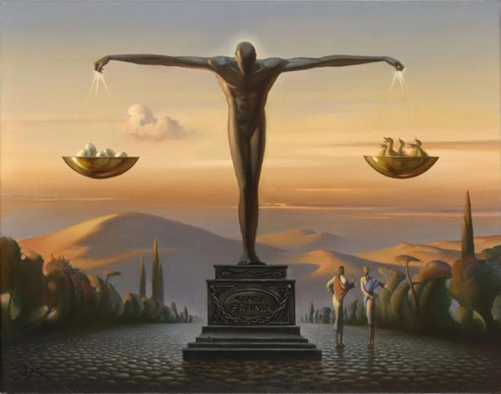 Vladimir Kush 1965 - Russian painter - The Surreal Landscapes - Tutt'Art@